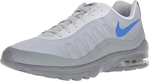 Nike Men's Air Max Invigor Print Running Shoes (8.5 D US, Pure Platinum/Hyper Royal/Cool Grey)