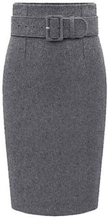 ZLL Mujer Tallas Grandes Faldas,Corte Bodycon Un Color Separado ...