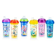 Nuby Insulated No-Spill Silicone Spout Clik-It Cup, 6 Months plus