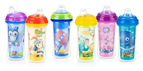 Nuby No-Spill Insulated Sipper with Spout, Children's Sippy Cup, 9 Ounce, Colors May Vary ()