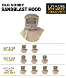 Sandblasting Hood with large viewing screen for