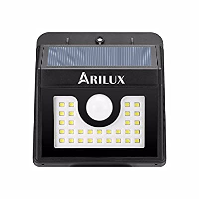 Solar Lights, ARILUX 30 LED Motion Sensor Wall Light Outdoor Weatherproof Wireless Security Lighting Nightlight for Driveway, Garden, Back Door, Fence, Patio
