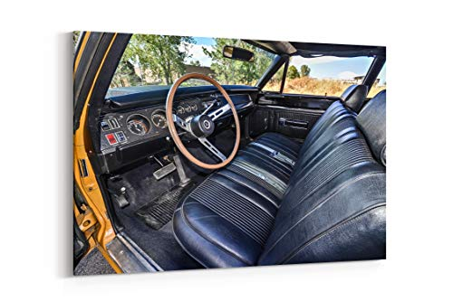 1969 Dodge Super Bee Hemi Muscle Old Classic Original USA 04 - Canvas Wall Art Gallery Wrapped 26