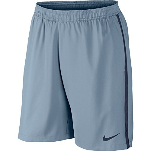 Nike Men's Court 9'' Shorts (M, Gray) (2 Pack) by NIKE