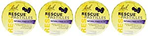 Bach Flower Essences Rescue Remedy Pastilles, Black Currant, 4 Count
