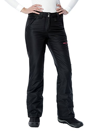 Arctix Women's Insulated Snow Pant, Black, Large/Petite