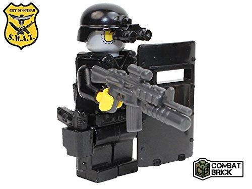 Swat Assault - CombatBrick Pollice SWAT Assault Pointman Officer - Custom Army Builder Military Minifigure