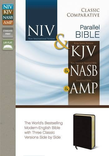 NIV, KJV, NASB, Amplified, Classic Comparative Parallel Bible, Bonded Leather, Burgundy: NIV and   KJV and   NASB and   Amplified