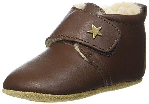 BisgaardWool Star - Pantuflas Unisex Niños, Color Marrón, Talla 26