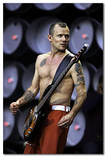 wallsthatspeak Flea of The Red Hot Chili Peppers Performing at Live Earth at The Wembley Stadium in London Printed on 24x36 Poster Wall Art by Movie Star News