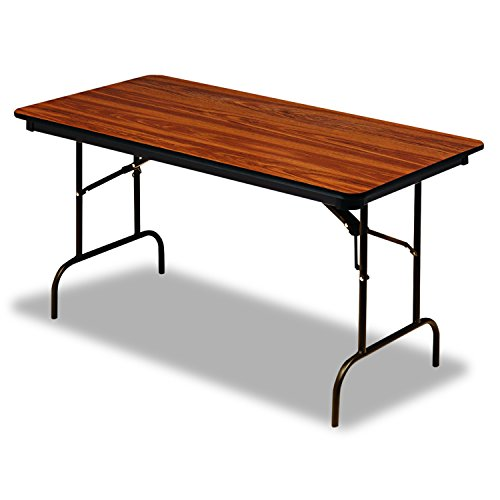 "Iceberg ICE55225 Premium Wood Laminate Folding Table with Brown Steel Legs, 30"" Length x 72"" Width x 29"" Height, Oak"