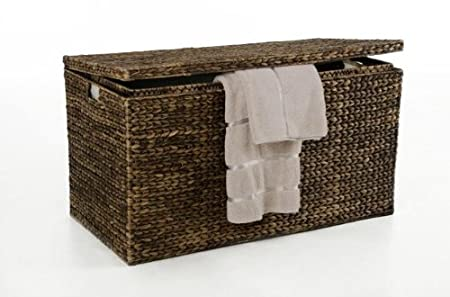 vivanno large laundry chest water hyacinth big 90cm brown viviano windows