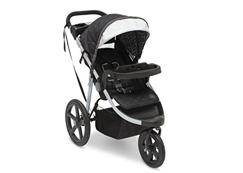 J is for Jeep Brand Adventure All-Terrain Jogging Stroller, Charcoal Tracks