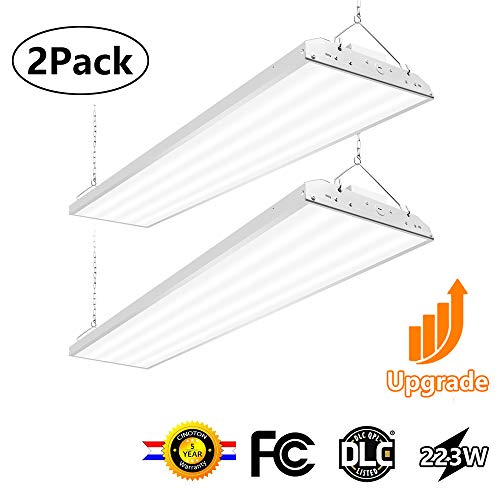 CINOTON 4FT Linear LED High Bay Light, LED Shop Light Fixture 223W 28990lm 1-10V dimmable 5000K [800W Fluorescent Equiv.] Motion Sensor Optional, Indoor Commercial Warehouse Area Light 2 Pack