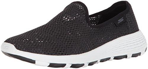 Skechers Performance Women's Go Walk Cool-15650 Sneaker,Black/White,8.5 M US by Skechers