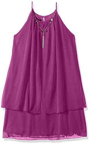 Amy Byer Girls Big Aline Popover Dress with Trim