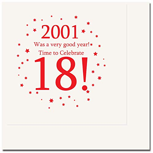 2001-18th Birthday Luncheon Napkin (16 Count Package) by Partypro
