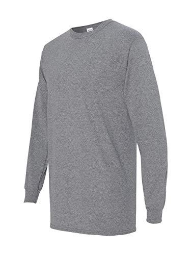 Gildan Mens 5.3 oz. Heavy Cotton Long-Sleeve T-Shirt G540 -GRAPHITE HEA -