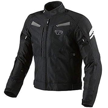JET Chaqueta Moto Hombre Impermeable Textil con Armadura Multi Funcional Negro