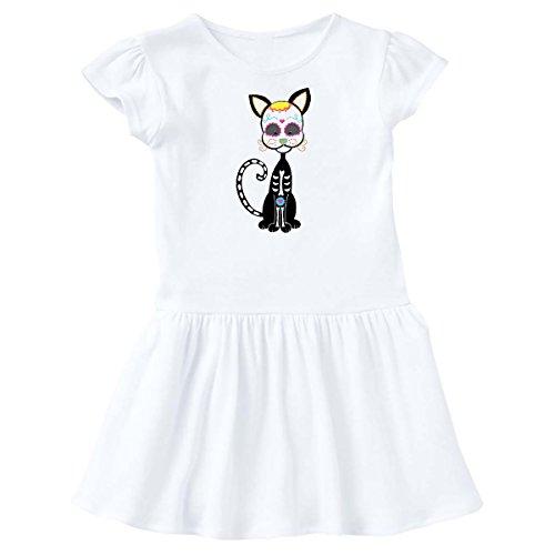 inktastic - Gato de Dia de Los Muertos Toddler Dress 2T White 1fa51 ()