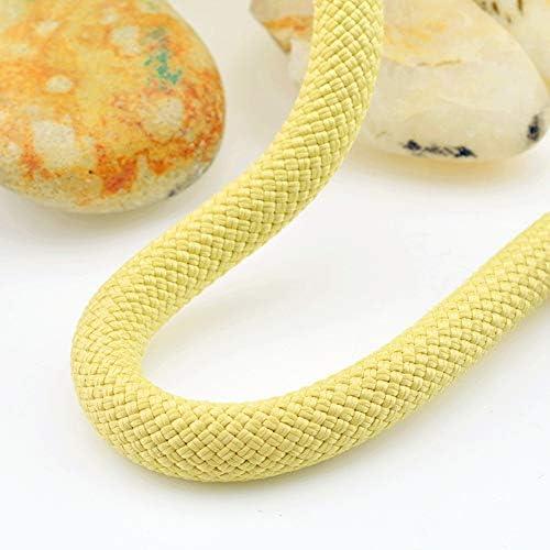 MEI XUクライミングロープ アラミドケブラー高温11ミリメートルクライミングロープ強度ロッククライミングラペルロープ屋外安全ロープスポーツ用品、16サイズ (Size : 60M)