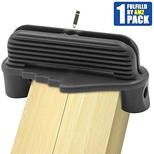 Offset Center Marking Tool, Center Line Scriber Woodworking Centerline Finder Wood Scribe Marking Gauge, Fits Standard Wooden Pencils (Gray)