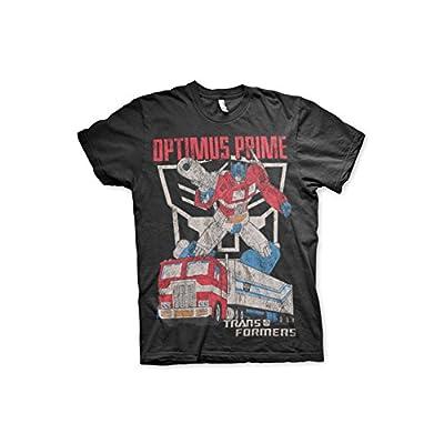 Officially Licensed Transformers Optimus Prime Distressed 3XL,4XL,5XL Mens T-Shirt (Black)