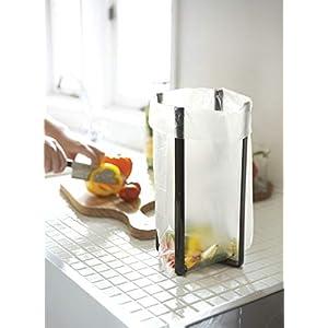 YAMAZAKI home Tower Kitchen Multi Eco Stand – Multifunctional Plastic Bag Holder