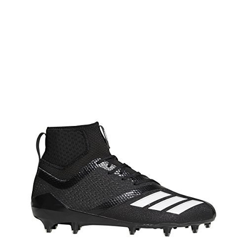 Adidas Black Football Cleat - adidas Adizero 5Star 7.0 Mid Cleat Men's Football 10 Black-White