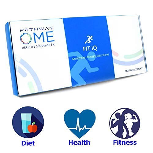 Pathway Genomics Fit iQTM Home DNA Test Kit - Personal Genetic Testing for Health, Wellness, and Body Fitness, Diet Planning, Eating Behaviours, Food Sensitivity, Exercise Response, and Weight