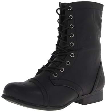 Madden Girl Women's Gamer Lace-Up Boot,Black Paris,8 M US