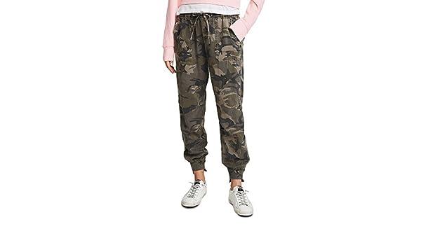 ac26c7643b726 Pam & Gela Women's Offset Cuff Pants, Camo & Star Print, Petite: Amazon.ca:  Clothing & Accessories