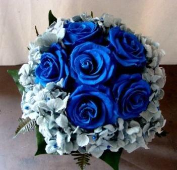 Ramo Novia Preservado Rosas Azules Portes Gratis Amazones Jardín