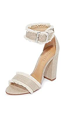 Schutz Women's Janessa Fray Sandals, Bamboo, 5.5 B(M) US