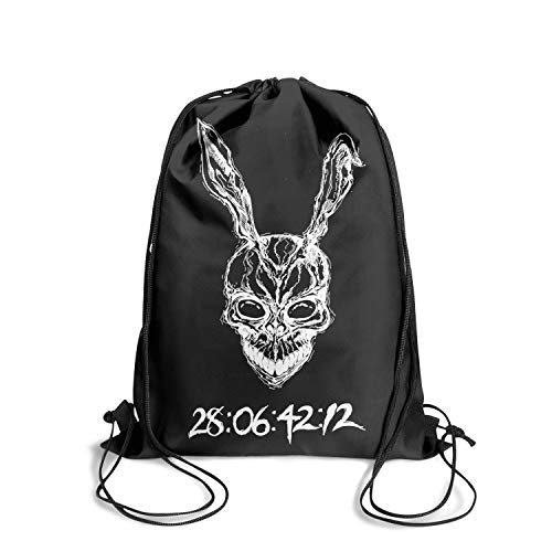 DSdarRke Drawstring Backpack Dancing Bag Pull String Sackpack Film Character knapsack Gymsack for Men Women -