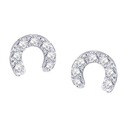 Giantti Diamant pour femme Boucles d'oreilles à tige (0.098CT, qualité HSI, Gh-colour)