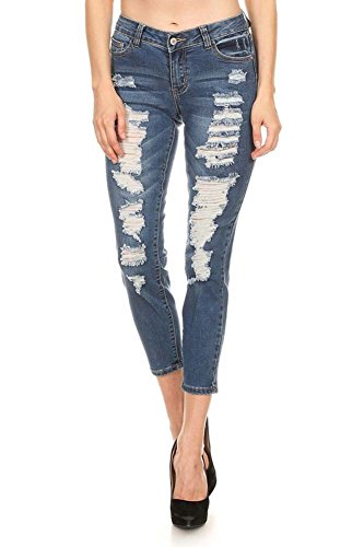 Urban Chick (Urban Chick Mid Rise Ripped Stretch Skinny Jeans, 9)