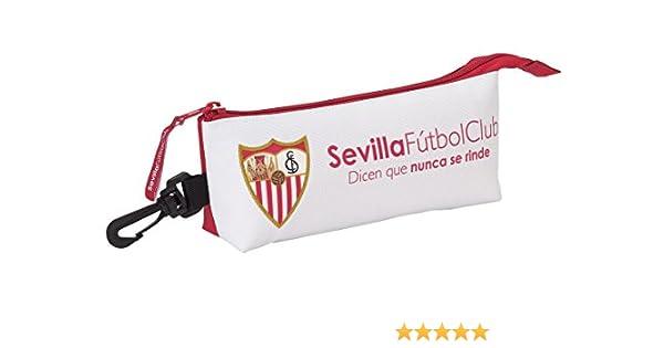 Safta Estuche grande Sevilla F.C. Oficial Triangular Ovalado 200x50x85mm: Amazon.es: Ropa y accesorios