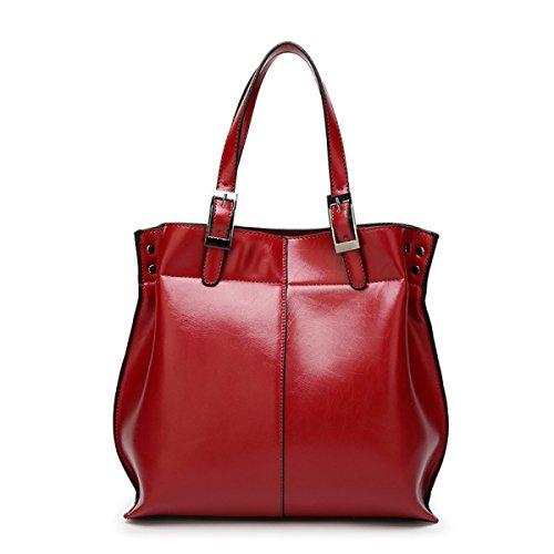 Moda Mujer Marea Europa Y Los Estados Unidos Moda Hombro Messenger Bolsa Bolsa De Mano Bolsa De Cera De Cuero Bolsa Red