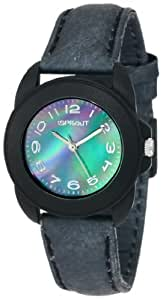 Sprout Women's ST1020JMBKBK Eco-Friendly Corn Resin and Black Tyvek Strap Watch