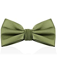 7a467642b7c4 Bow Ties For Men - Mens Woven Pre Tied Bowties For Men Bowtie Tuxedo Solid  Color
