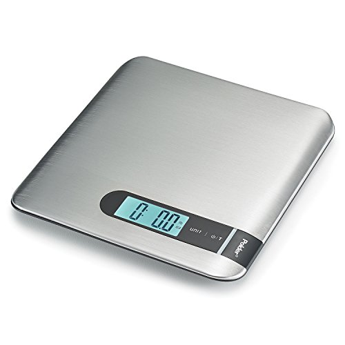 Polder KSC-449-95 CURVE Stainless Digital Scale with Blue Backlit LCD, 11-Pound (5 kg.) Capacity