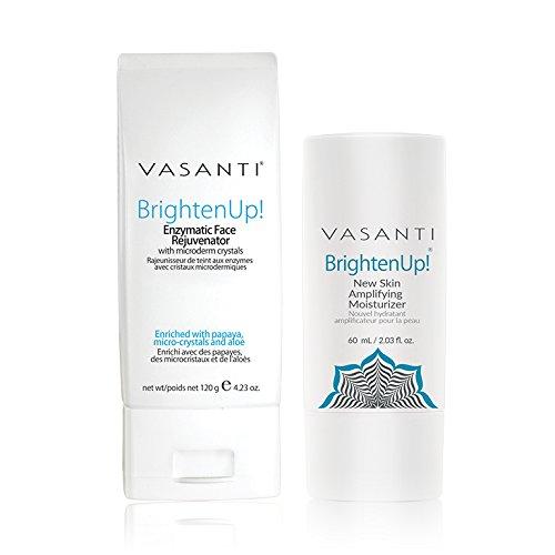 Brighten Up Exfoliator  and Moisturizer  Kit by VASANTI - Ge