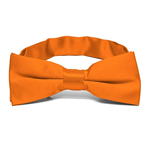 TieMart Boys' Pumpkin Orange Bow (Pumpkin Bow)