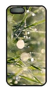 iPhone 5S Case - Customized Unique Design Morning Dew Bokeh 3 New Fashion PC Black Hard