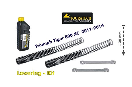 Touratech Height lowering kit 30mm for Triumph Tiger 800 XC 2011-2014 *replacement springs and reversing lever* B00BRGC392