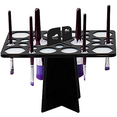BEAKEY Makeup Brush Drying Rack Tree Air Tower Organizer Folding Brush Holder Accessories Cosmetic Shelf Tools - 28 Holes