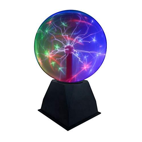 Lightahead 8 Crystal Plasma Ball Lamp with Green/Red/Purple/Multi Light Colors Globe Design Touch Sound Sensitive (Color: Multicolor)