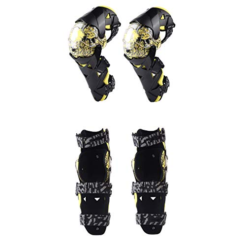 TY BEI Kneepad Kneepad - Fashion Motorcycle Knee Pads Motocross Knee PC Brace high-end Protective Gears Kneepad Protectors @@ (Color : Yellow) by TY BEI (Image #4)
