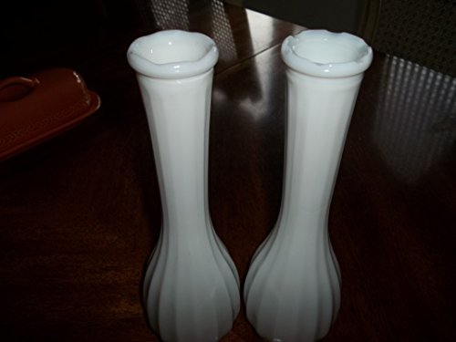Pair of Milk Glass Vases (Milk Glass Randall)